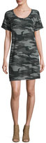 Current/Elliott The Slouchy Scoop-Neck Dress, Black Camouflage