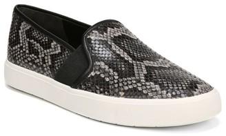 Vince Blair Snakeskin-Embossed Leather Slip-On Sneakers