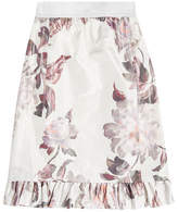 Brock Collection Printed Skirt with Silk