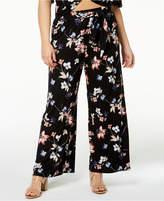 Soprano Trendy Plus Size Printed Tie-Waist Pants