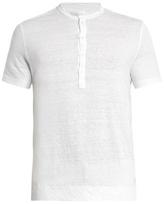 120% Lino Henley linen T-shirt
