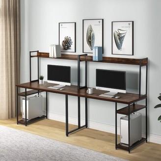 Inbox Zero Home Office Desk Color: Brown