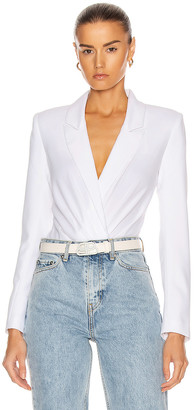 RtA Maryse Blazer Bodysuit in White   FWRD