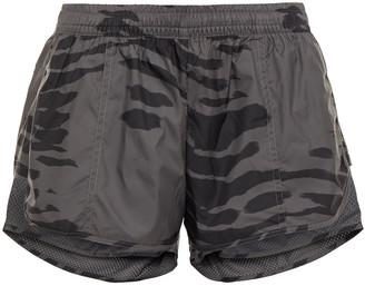 adidas by Stella McCartney Mesh-paneled Printed Shell Shorts