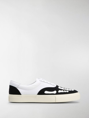 Amiri Skeleton Toe Print Sneakers