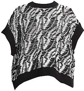 Loewe Women's Textured Short-Sleeve Sweater