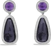 David Yurman Cerise Double Drop Earrings with Black Orchid, Amethyst & Diamonds