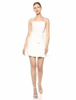 The Fifth Label Women's Minute Sleeveless Belted Ruffle Mini Dress
