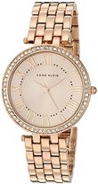 Anne Klein Women's AK/2230RGRG Swarovski Crystal Accented Rose Gold-Tone Bracelet Watch