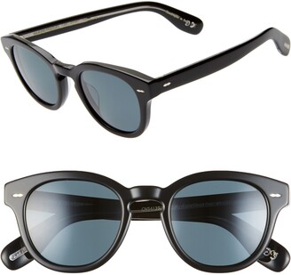 Oliver Peoples 48mm Small Polarized Round Sunglasses