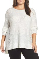 NYDJ Plus Size Women's Sequin Sweater