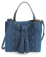 Elle & Jae Gypset Cutwork Palomina Faux Leather Satchel - Blue