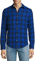 Original Penguin Plaid Cotton Shirt, Blue