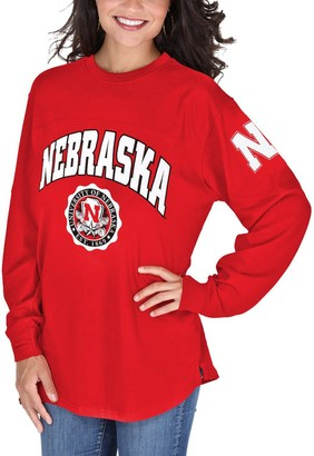 Women's Pressbox Scarlet Nebraska Cornhuskers Edith Long Sleeve T-Shirt