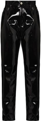 ATTICO Dua vinyl slim-fit trousers