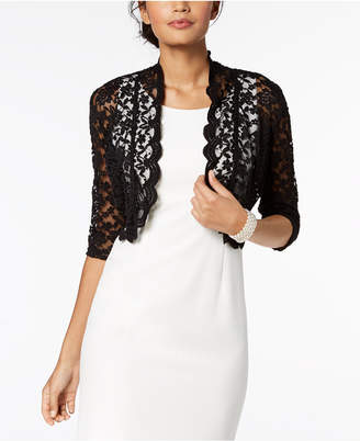 Connected Scalloped Lace Shrug