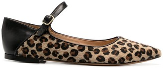 Tila March Shanty leopard ballerina shoes