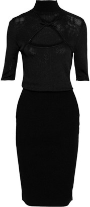 Cushnie Cutout Twisted Stretch-knit Dress