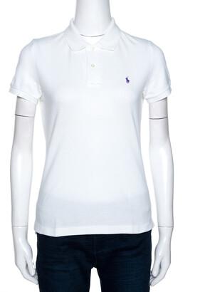 Ralph Lauren White Cotton Pique Slim Fit Polo T-Shirt M