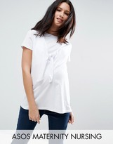 ASOS Maternity - Nursing ASOS Maternity NURSING Knot Front T- Shirt