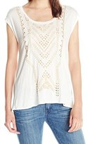 Jessica Simpson Women's Lavi Split Back Tee