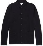 Sunspel Milano Merino Wool Cardigan - Navy