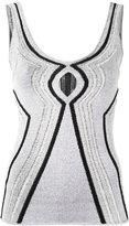 Proenza Schouler cutout knitted vest top - women - Silk/Rayon/Polyester/Polyamide - M