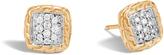 John Hardy Classic Chain Stud Earrings in 18K Gold with Diamonds