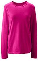 Lands' End Women's Tall Relaxed Supima Crewneck T-shirt-Rich Sapphire