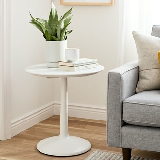 west elm Liv Side Table - White Marble