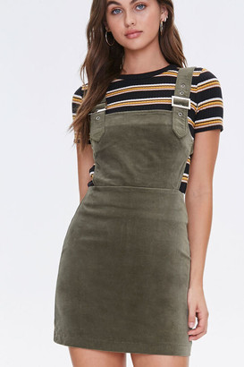 Forever 21 Faux Suede Overall Dress