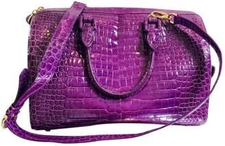 Ethan K Purple Crocodile Handbags