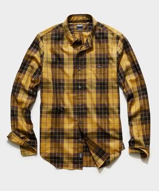 Todd Snyder Italian Mustard Plaid Flannel Button Down Shirt