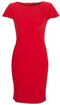 Lauren Ralph Lauren SHORT SLEEVE JERSEY DAY DRESS women's Dress in Red