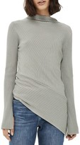 Topshop Women's Asymmetrical Ribbed Sweater