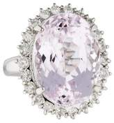 Ring Platinum Diamond & Kunzite Cocktail