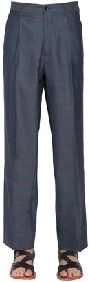Etro Pleated Check Wool Pants