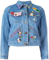 Marc Jacobs embroidered shrunken denim jacket - women - Cotton - S