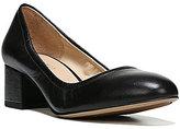 Franco Sarto Fausta Leather Slip-On Block Heel Pumps