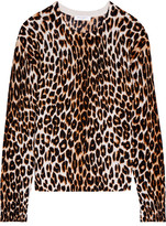 Equipment Shirley Leopard-print Silk And Cashmere-blend Sweater - Leopard print