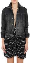 Saint Laurent Women's Heart-Patch Denim Jacket