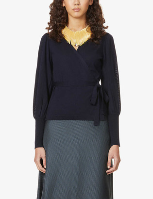 Diane von Furstenberg Arielle wrap-over wool top