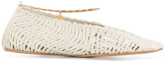 Stella McCartney Anklet Woven Ballerina Shoes
