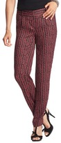 LOFT Tall Marisa Fluid Ankle Pants in Etched Chevron Print