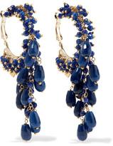 Rosantica Pascoli Gold-tone Quartz Earrings - Navy