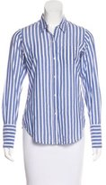 Nili Lotan Striped Button-Up Top
