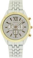 JCPenney GENEVA Womens Coin-Edge Bezel White Dial Bracelet Watch