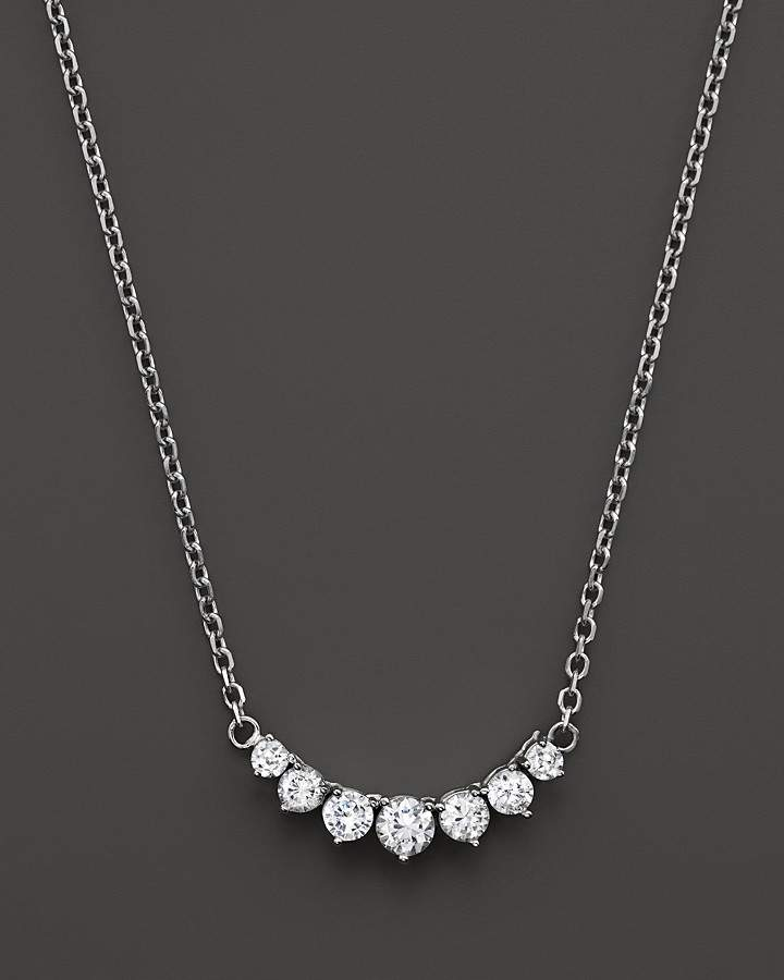 Bloomingdale's Diamond 7 Stone Necklace in 14K White Gold, 1.50 ct. t.w.