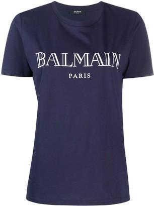 Balmain logo print jersey T-shirt