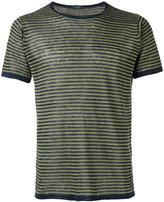 Zanone striped knit T-shirt - men - Linen/Flax - M